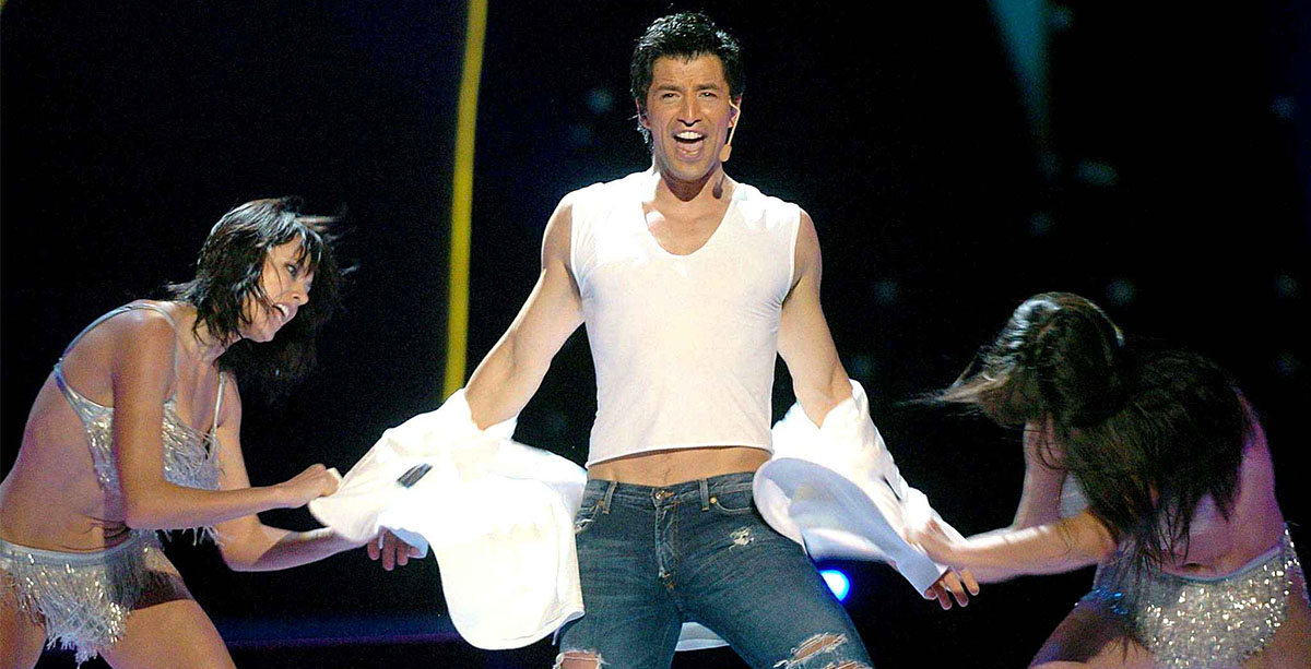Σάκης Ρουβάς - Sakis Rouvas - Shake It - Eurovision Song Contest 2004 - Hit Channel